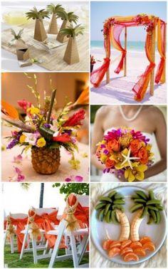 Tropical Beach Wedding Inspiration and Tropical Wedding Favors Ideas from HotRef.com #tropicalwedding