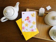 Cartão e envelope Jardim, do Atelier Joliz