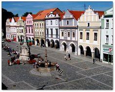 Česko, Třeboň - Náměstí Old Buildings, Czech Republic, Prague, Hungary, Austria, Poland, To Go, Europe, Italy
