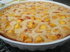 This peach clafoutis is a very easy french dessert to make....perfect to highlight seasonal fruit!! Bonus ~ it's low in sugar & flour...easy to adapt for gluten-free.