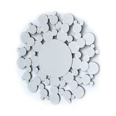 All Mirror Mirrors: Round Mirror With Circles Detail 700mm dia