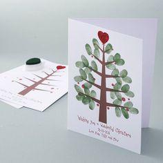 Personalised Thumbprint Christmas Tree Cardshttp://www.notonthehighstreet.com/lovethoseprints/product/personalised-christmas-tree-cards