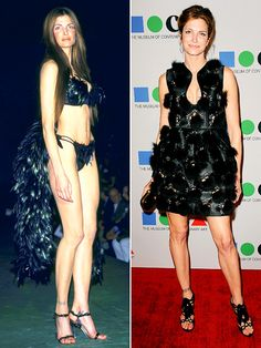 Stephanie Seymour Then: Known for being one of the original Victoria's Secret Angels and dating Axl Rose. Now: After six months of very public, very ugly divorce proceedings, Seymour reconciled with her wealthy newsprint magnate husband Peter Brant, with whom she has three kids, in 2010. The stunner still moonlights as a model, most recently posing in Jason's Wu's Spring 2013 ad campaign.