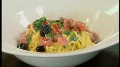 Koude pastasalade met mozzarellaloempia