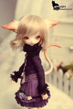 Dollzone,貓咪動物娃,超級可愛的