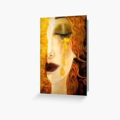 """""""Freya's Crying Viking Lore pretty woman"""" Greeting Card by Glimmersmith 
