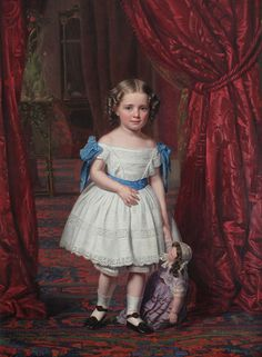 """Princess Thyra of Denmark 1857 August Schiott Amalienborg Palace via Wikimedia"" 1850s Fashion, Rococo Fashion, Christian Ix, Ernst August, Maria Feodorovna, Danish Royalty, Amazing Paintings, Vintage Girls, Art For Kids"