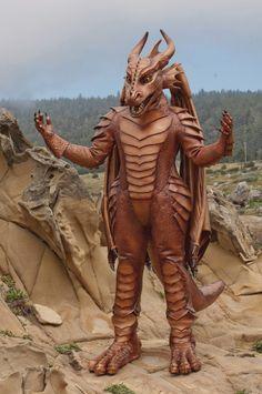 Full Body Latex Dragon Costume - by RetchCoyote