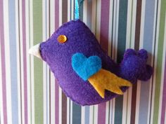 UltraViolet Bird Ornament by Pepperland on Etsy, $6.00