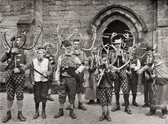 Abbots Bromley Horn Dance - the oldest dance in England. The horns are over 1000 years old, and were brought by Vikings to England. Still danced every year in Abbots Bromley.