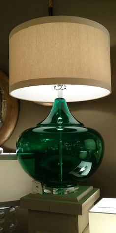 gf design a room contest 2016 Emerald green to sit above my Vega… Decor, Green Lamp, Green Decor, Lamp, House Styles, Bedroom Green, Green Glass, Emerald Green Decor, Green Aesthetic