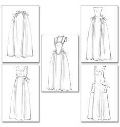 Butterick Sewing Pattern: B5509 Historical Aprons — jaycotts.co.uk - Sewing Supplies