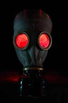 ; Gas mask, #blackandred #masks http://www.pinterest.com/TheHitman14/black-and-red/
