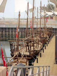 Kuwait reproduction pearling dhows