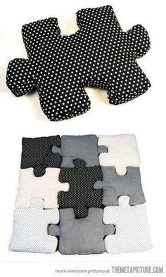 puzzle pillow idea