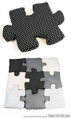 puzzle pillow idea