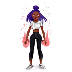 "Animation marikapaprika: "" Made this gif of a fiery magical girl for my friends over at Blacklist! Anim Gif, Gif Animé, Animated Gif, Black Girl Art, Black Women Art, Art Girl, Black Art, Illustration Inspiration, Illustration Art"