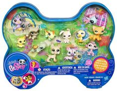 Littlest Pet Shop Exclusive Dog Bone Shaped Tin Rare ~ aww I used to collect these little guys