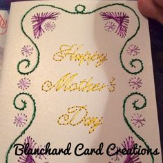 Hand stitched greeting card--- Mother's Day love