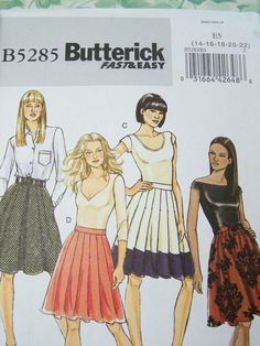 Butterick B5285 Sewing Pattern  Women's Pleated by WitsEndDesign, $10.00