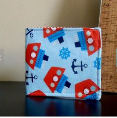 a little boy's First Wallet with Tug Boats by Sweet Pea Purse Company, $24.00