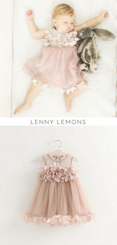 Cutest Baby Girl Dress | Lenny Lemons | Button closure behind neck | Beautiful formal or casual | Flower ruffles | Sleeveless | Above the kneeInner lining | Baby Girl Outfit | Baby Girl Dress | Baby Girl. #babygirl #baptism #pink s/Mandy Keltz & Danielle Dobies