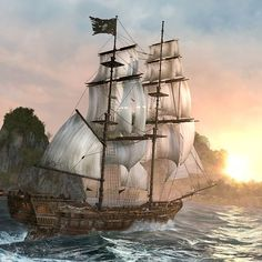 pirate flag on ship - Google Search