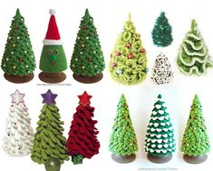Set of 8 Christmas tree crochet patterns - 7 Crochet and 1 Knitting tree - 4 Pdf files by Zabelina, Pertseva, Sharapova Etsy Set 4 Patterns. Christmas tree 3 Crochet and 1 Knitting Always aspired to learn how to knit, nevertheless uncertain wher.