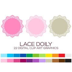 Lace Doily Clipart for Personal & Commercial Usage by coloryourway