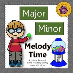 Your music students will love aurally reviewing the music is major or minor with this interactive music game. Get ready for the excitement when they select the correct answer and a gumball rolls across the page. Excellent music resource!