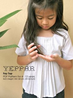 PDF Pattern - Fay Top for 4 - 10 years old and tutorial. by yeppar on Etsy https://www.etsy.com/listing/64364954/pdf-pattern-fay-top-for-4-10-years-old