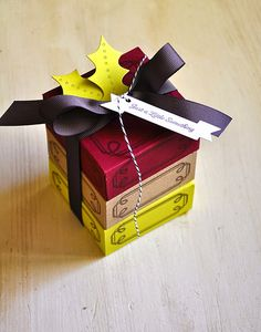 Mini Gift Box Stack by Maile Belles for Papertrey Ink (October 2014)