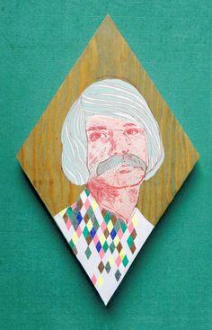 collage diamond shirt guy