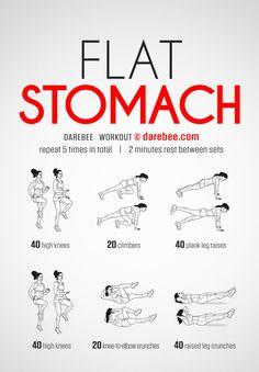 Workout abs Abdos ventre plat Exercices