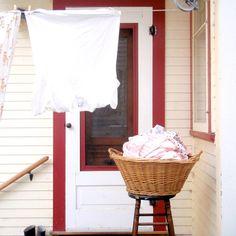 Wicker Laundry Basket by ChestnutStSmallHouse on Etsy, $25.00