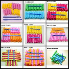 Extra Long Normal Big Hair Curlers Leverag Curlformers Magic Hair Rollers 18Pcs #Unbrand