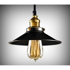 Edison Industrial Black Metal Pendant Light