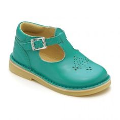 Mini Lottie, Marine Blue Leather Girls Buckle Classics - Start Rite Shoes