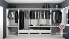 Closet, projeto Paula Pinheiro. Renderização Promob Studio com Render Up.