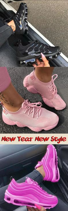 Cute Sneakers, Pink Sneakers, Adidas Sneakers, Nike Fashion, Fashion Shoes, Womens Fashion, Stylish Outfits, Stylish Clothes, Hype Shoes