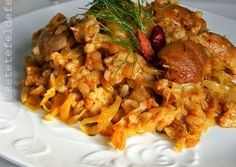 Romanian Food, Pork Recipes, Risotto, Good Food, Food And Drink, Rice, Favorite Recipes, Dishes, Meat