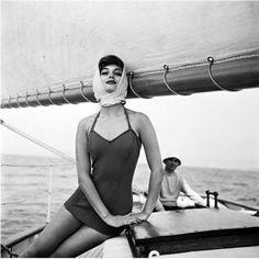 Marie-Hélène Arnaud, French Riviera. Photo by Georges Dambier, 1957