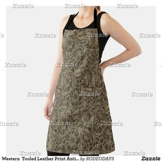 Western Kitchen Decor, Summer Bbq, Leather Tooling, Antique Silver, Apron, Cool Designs, Formal Dresses, Antiques, Tops