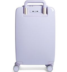 In love with this pale purple carry-on that combines Bluetooth technology with a lightweight and durable shell. Suitcases For Teens, Cute Suitcases, Travel Suitcases, Cute Luggage, Travel Luggage, Travel Bags, Hard Suitcase, Carry On Suitcase, Travel Necessities