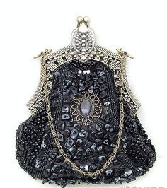 Evening and Clutch Bags Beaded Bags, Purses And Bags, Women's Bags, Evening Bags, Clutch Bag, Women Accessories, Victorian, Bling, Beads