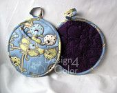 Amy Butler blue & purple hot pads/pot holders