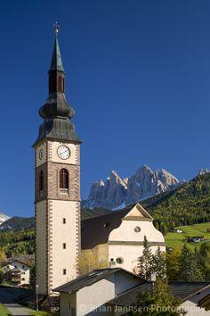 St Jakob Church with the Dolomites beyond, San Pietro, Trentino-Alto-Adige, Italy..  © Brian Jannsen Photography