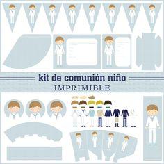 Kits de fiesta: Kit de comunión niño - Tienda Postreadicción