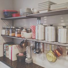 dwelling small // open shelving in the kitchen