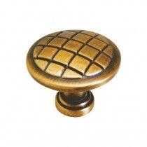 Jaladera botón Línea latón europeo Rish